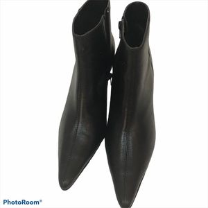Pazzo Black Leather Booties Rave-6 Size 9